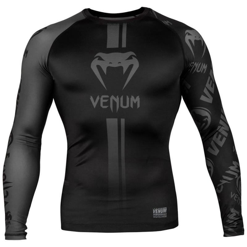 Venum Logos Rashguard LS black black