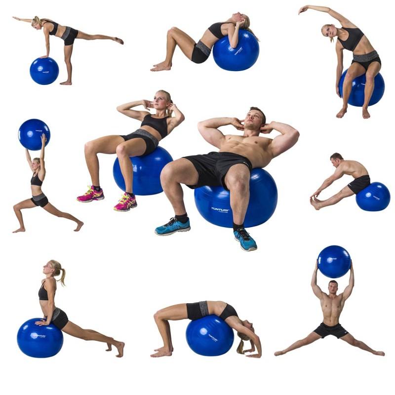 Abverkauf Tunturi Gymnastikball Blau