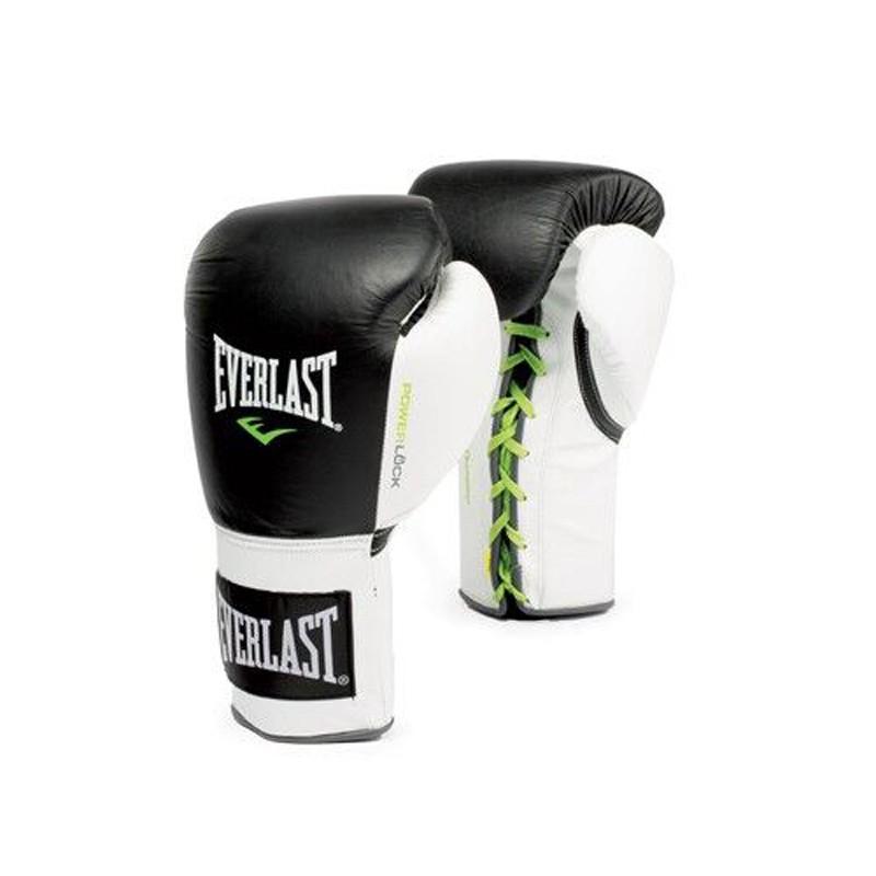 Abverkauf Everlast Powerlock Fight Gloves Laced Black White 2270