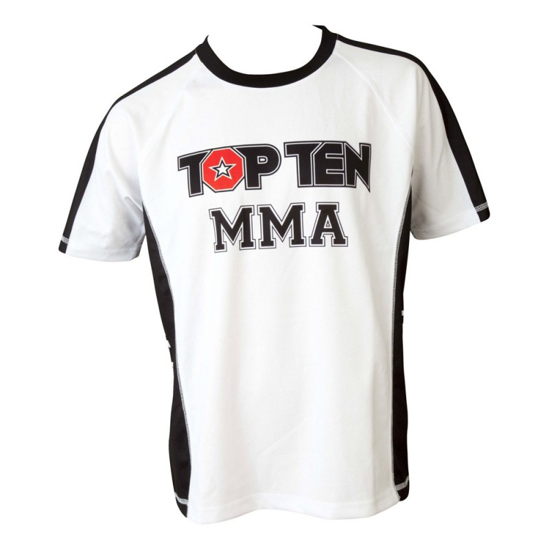 Top Ten MMA Its In The Cage T-Shirt Weiss Schwarz