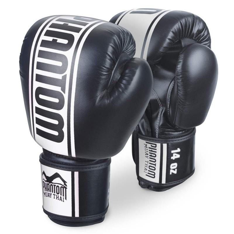 Phantom  Muay Thai Boxhandschuhe MT Pro PU Schwarz