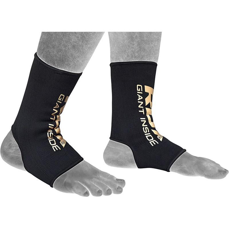 RDX Knöchelschutz schwarz gold