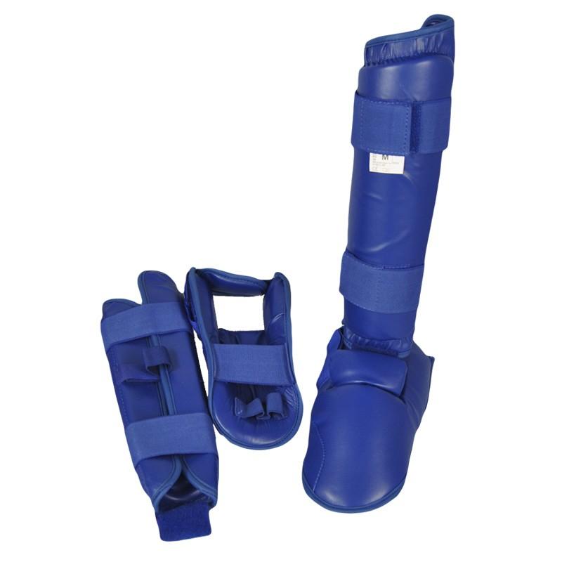 Abverkauf Phoenix Karate Kumite Schienbein Spannschutz Blau