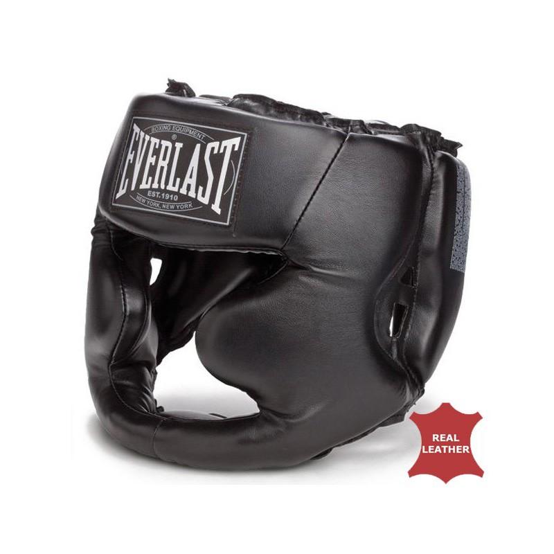 Everlast Full Protection Kopfschutz Leder Black 350 CE