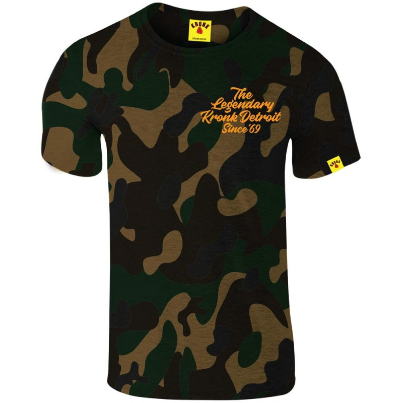 Kronk Boxing Legendary Slimfit T-Shirt Camouflage