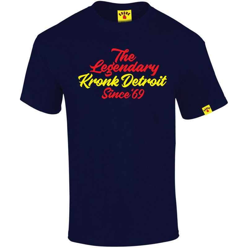 Kronk Boxing Legendary Script T-Shirt Navy