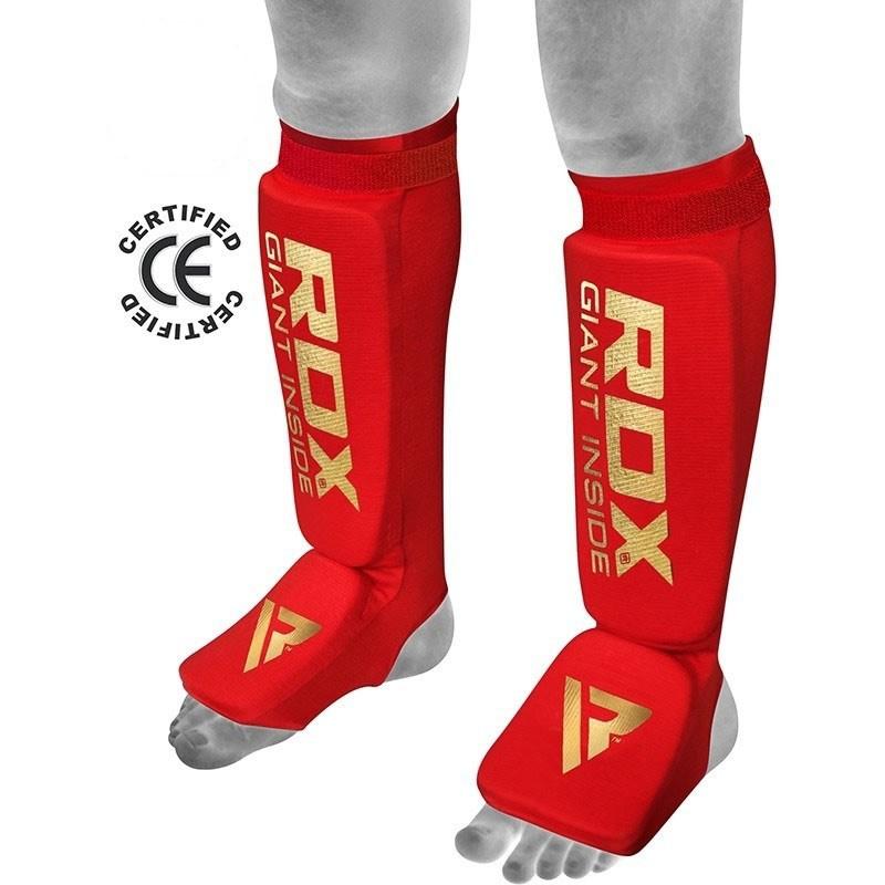 RDX Schienbein- Spannschoner rot