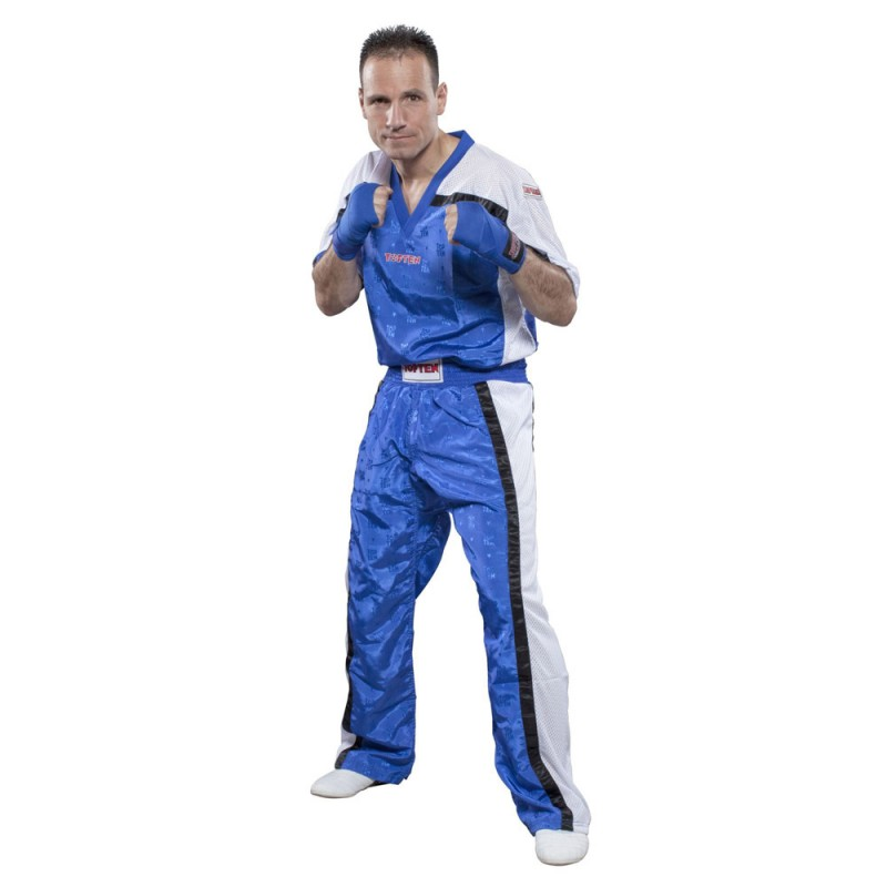 Top Ten Mesh Kickboxhose Blau Weiss Kids