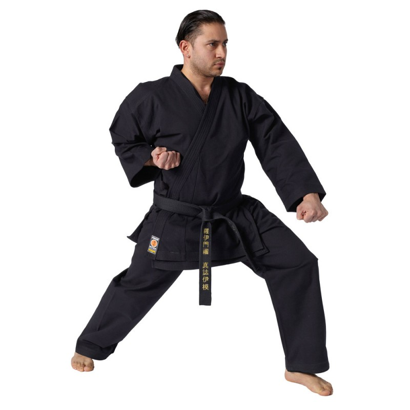 kwon traditional karate anzug schwarz 12oz g nstig kaufen boxhaus. Black Bedroom Furniture Sets. Home Design Ideas