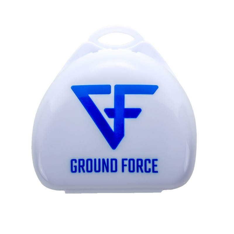 Ground Force Competition Mouthguard White Blue