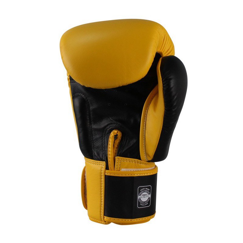 Twins BGVL 3 Boxing Gloves Yellow Black Leather