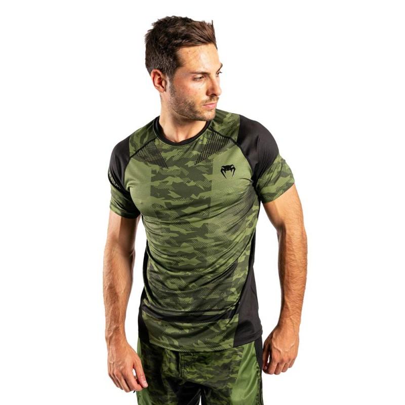 Venum Trooper Dry Tech T-Shirt Forest Camo Black