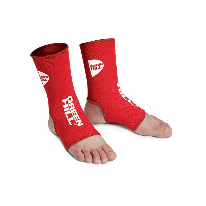 Green Hill Elastic Ankle Guards Rot