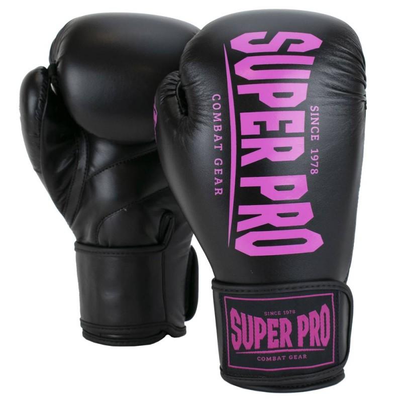 Super Pro Champ Boxhandschuhe Schwarz Pink Kids