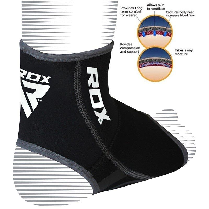 RDX Knöchelbandage NEO PRENE grau schwarz