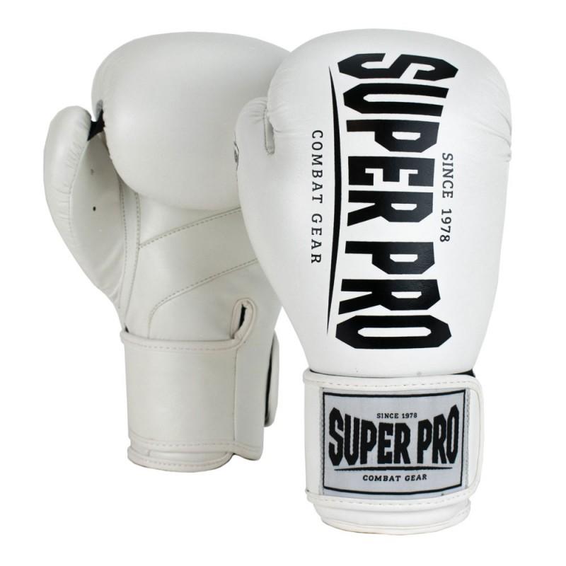 Super Pro Champ Boxhandschuhe Weiss Schwarz