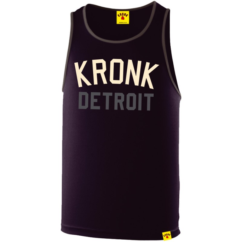 Kronk Detroit Two Colour Iconic Trainings Gym Vest Navy