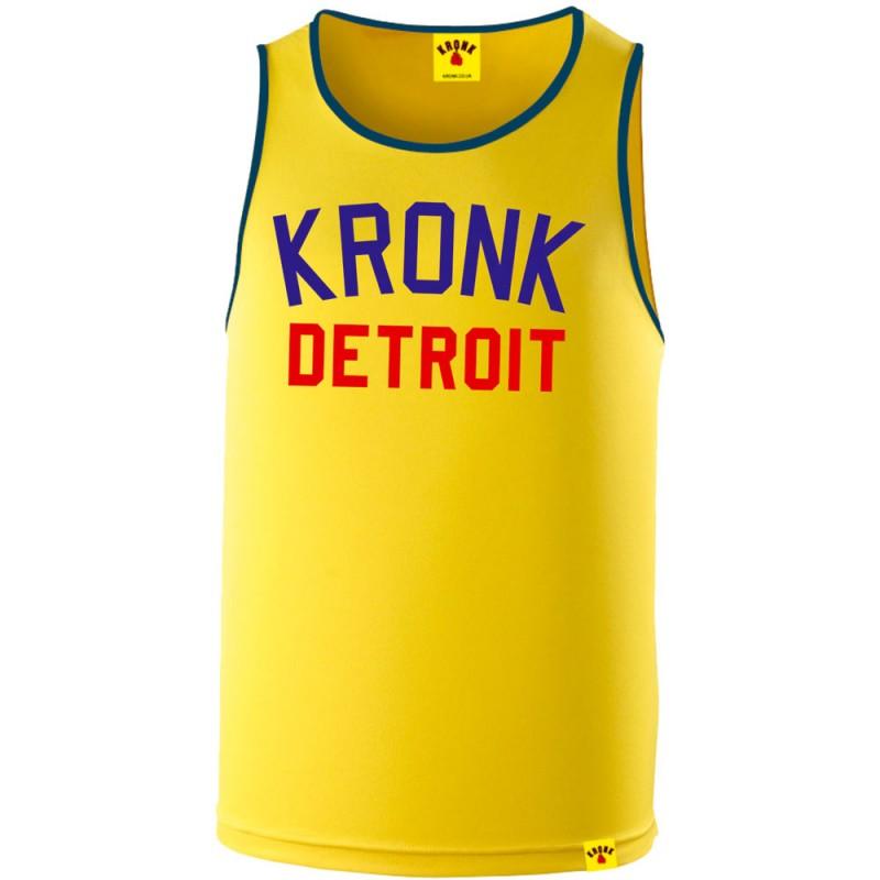 Kronk Detroit Two Colour Iconic Trainings Gym Vest Yellow