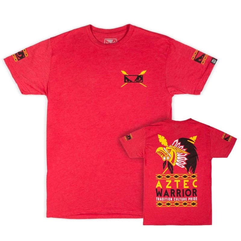 Abverkauf Bad Boy Aztec Warrior T-Shirt Red