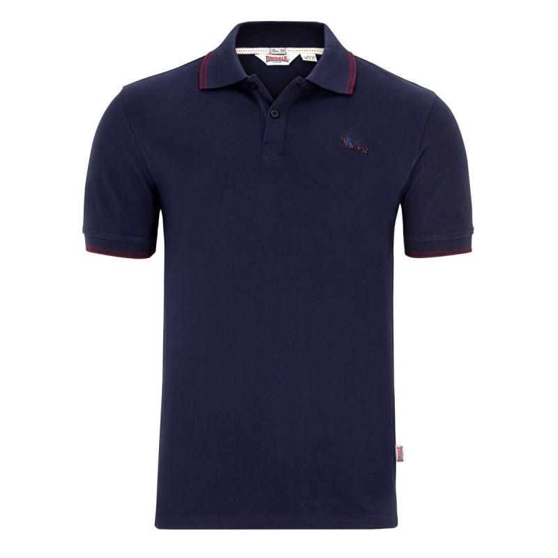 Abverkauf Lonsdale Joel Herren Slim Fit Poloshirt Navy