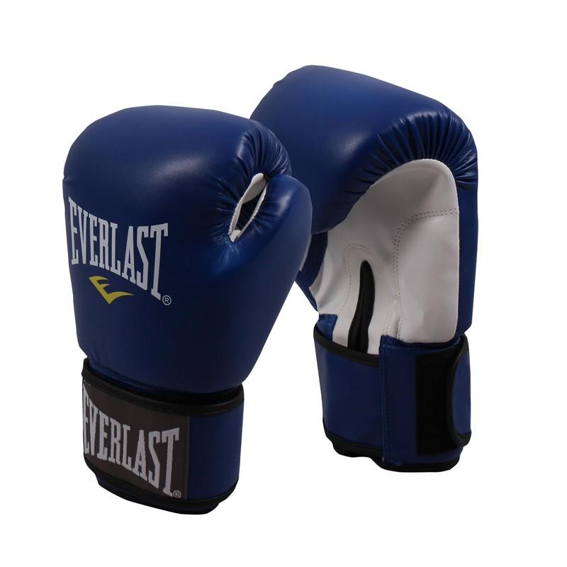 Abverkauf Everlast Thai Boxing Gloves Blue Leather 811206L
