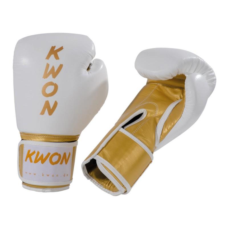Kwon KO Champ Boxhandschuhe Weiss Gold