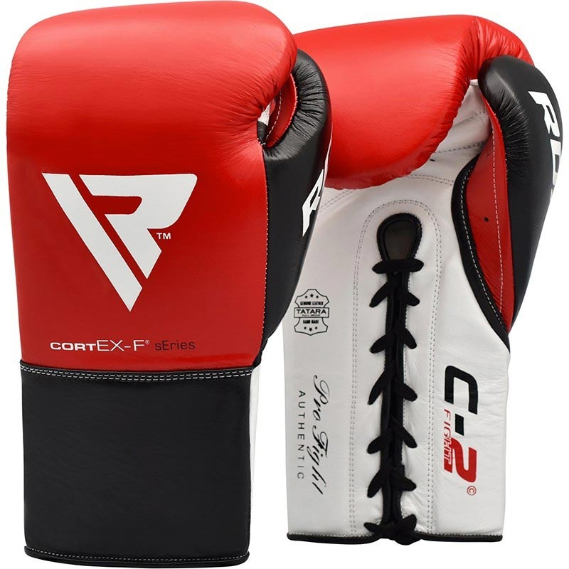 RDX Boxhandschuh Leder Pro FC2 rot
