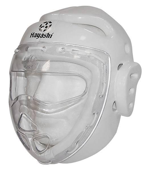Abverkauf Hayashi Kopfschutz weiß mit Carbonmaske