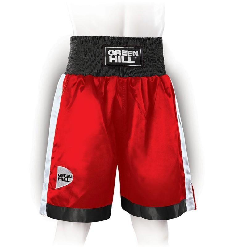 Green Hill Piper Boxing Shorts Rot Schwarz Weiss
