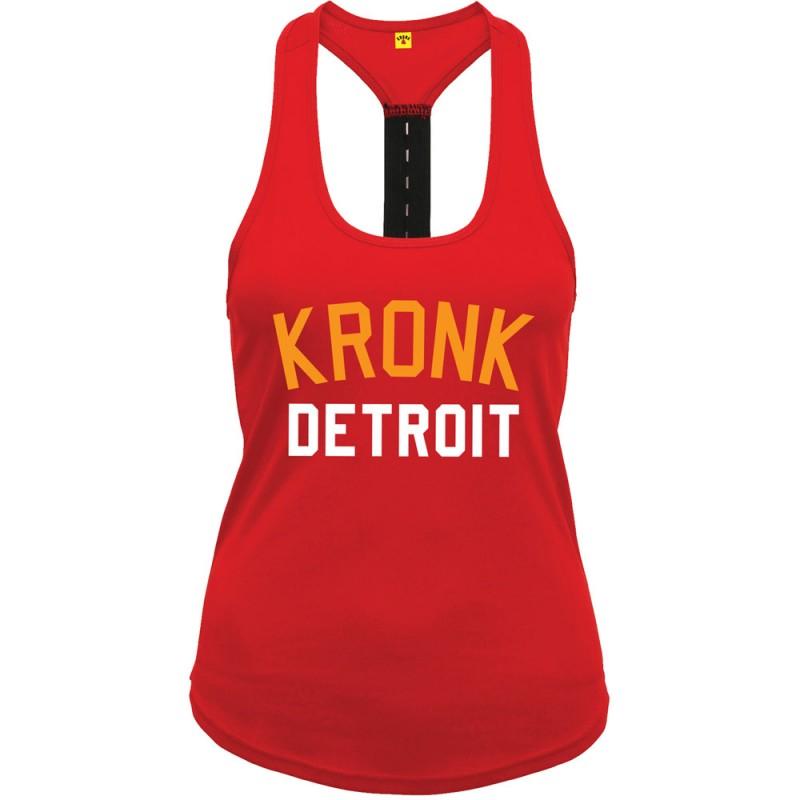Kronk 2 Colour Detroit Elastic Racer Back Vest Red