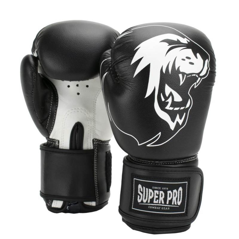 Super Pro Talent Boxhandschuhe Schwarz Weiss Kids