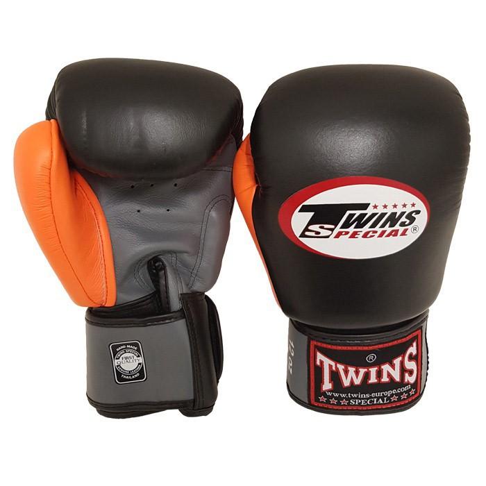 Twins BGVL 4 Boxing Gloves Black Grey Orange