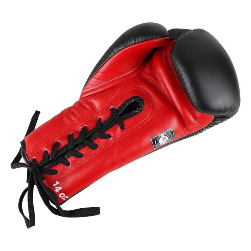 Twins BGLL 1 Boxing Gloves Leather Red Black