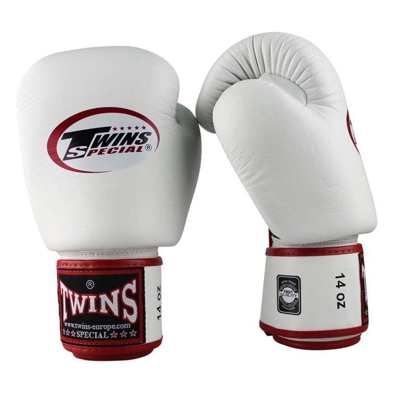 Twins BGVL 3 Air Boxing Gloves Leather White Black