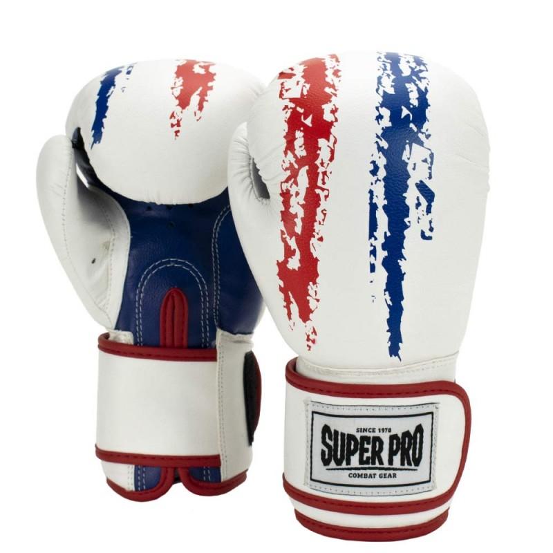 Super Pro Talent Boxhandschuhe Rot Weiss Blau Kids