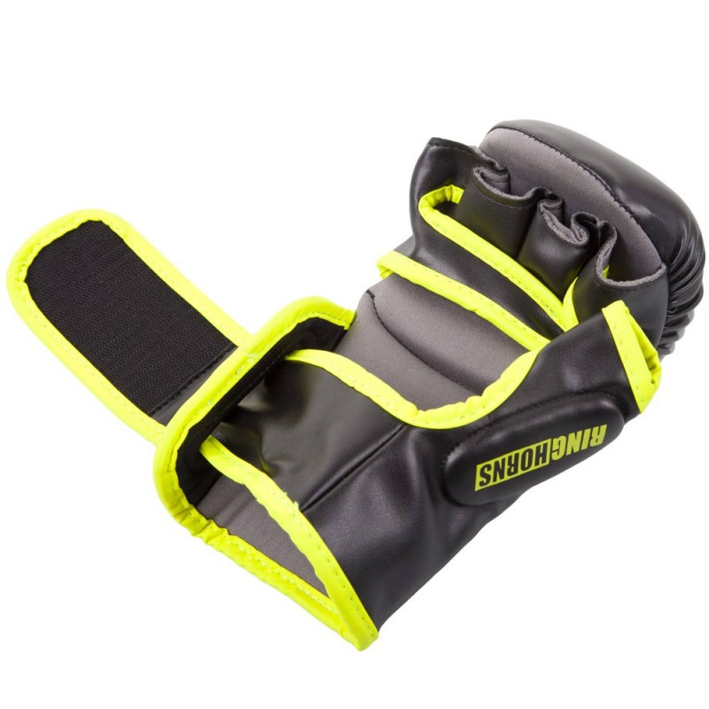 Ringhorns Charger Sparring Gloves Black Neo Yellow