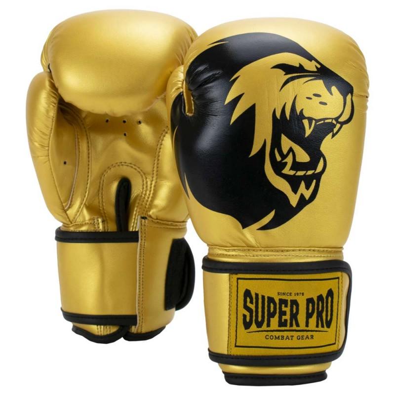 Super Pro Talent Boxhandschuhe Gold Schwarz Kids