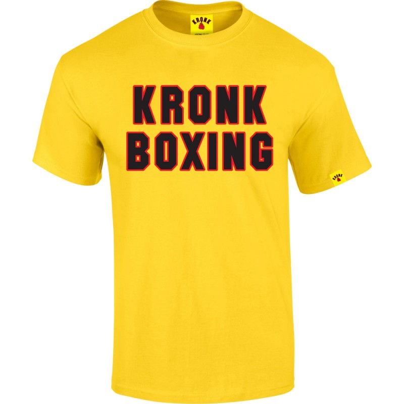 KRONK Boxing Classic T Shirt Yellow