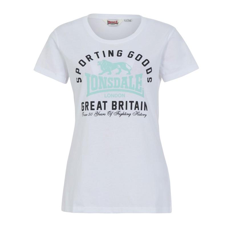 Lonsdale Stockport Damen T-Shirt White
