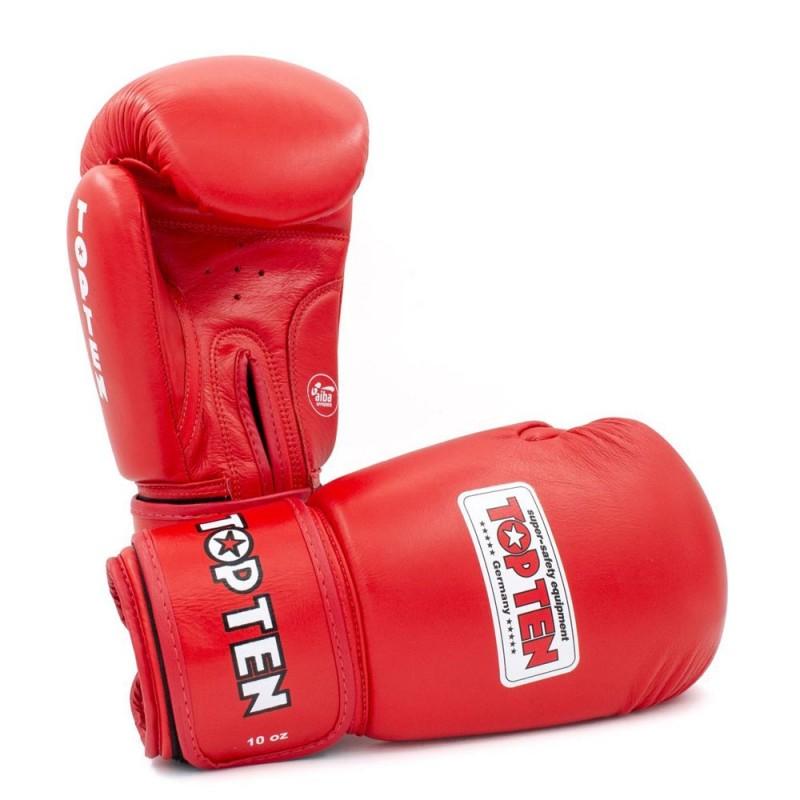Top Ten AIBA Boxhandschuhe Rot