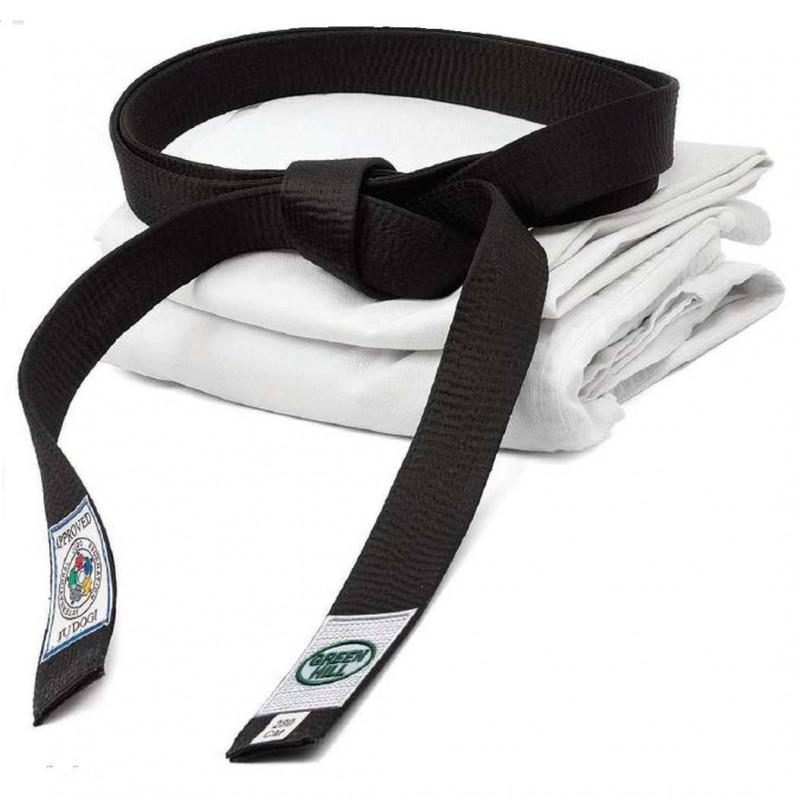 Green Hill Judo Gürtel IJF Schwarz