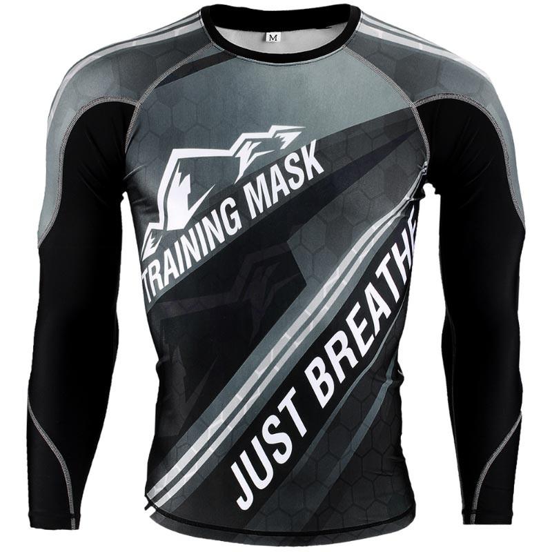 Abverkauf Elevation Training Mask Just Breathe Grey LS Rashguard