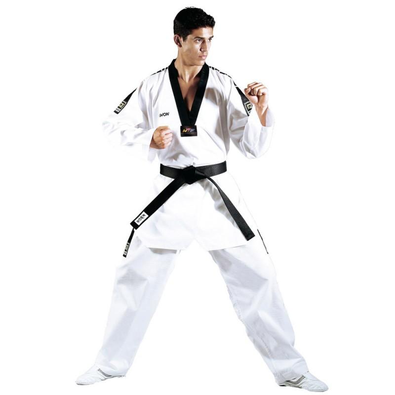 Kwon Grand Victory TKD Anzug Weiss Revers schwarz