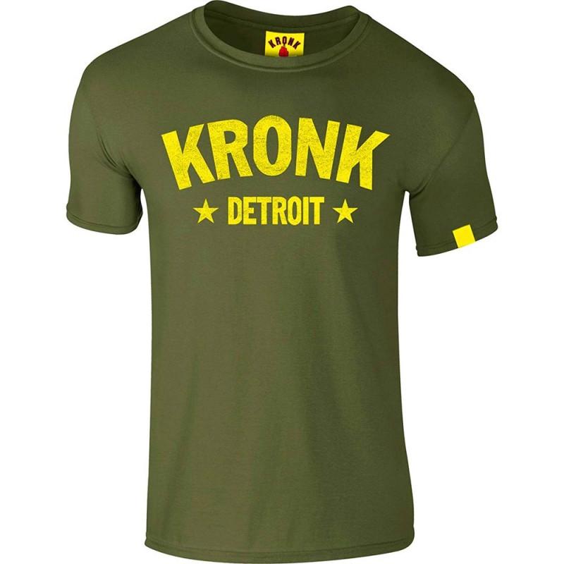 Kronk Detroit Stars Slimfit T-Shirt Military Green