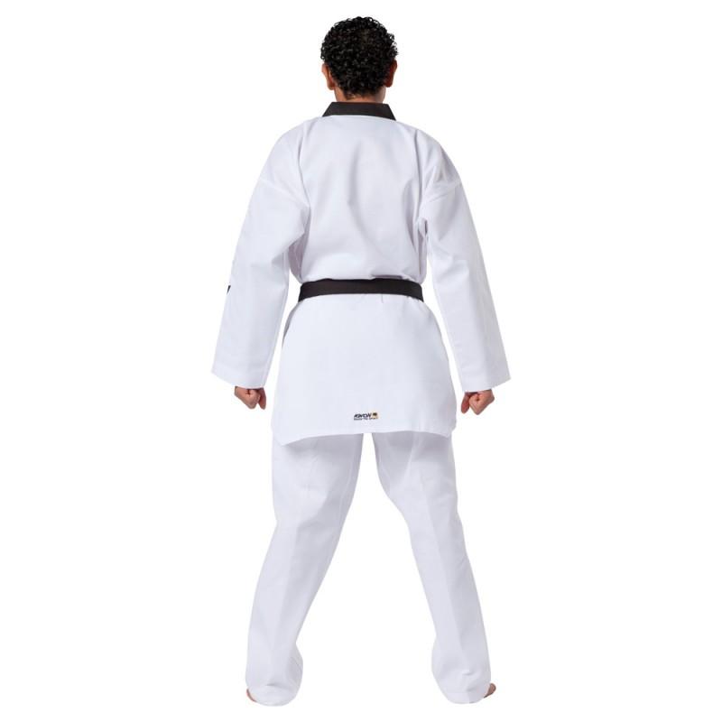 Kwon Starfighter TKD Anzug Weiss Revers schwarz mit Schriftzug