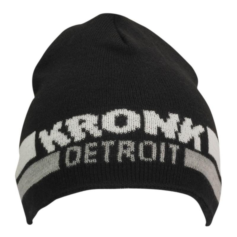 Kronk Detroit Two Stripe Beanie Hat Black