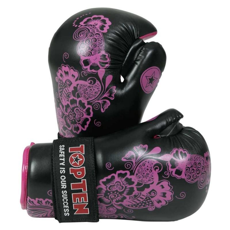 Top Ten Flowers Point Fighter Schwarz Pink