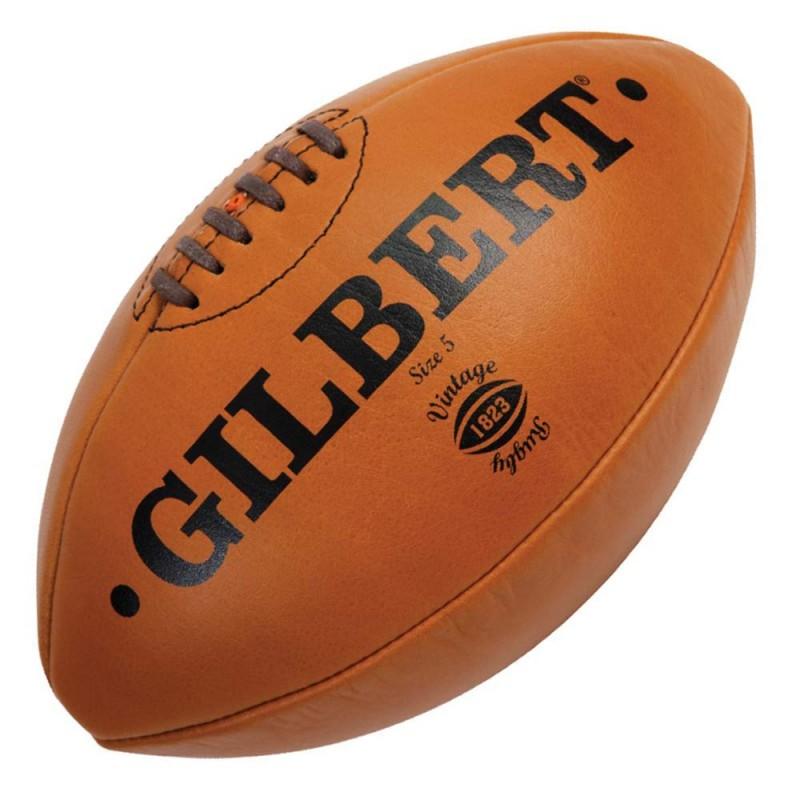 Gilbert Rugby Ball Leder Vintage Mini