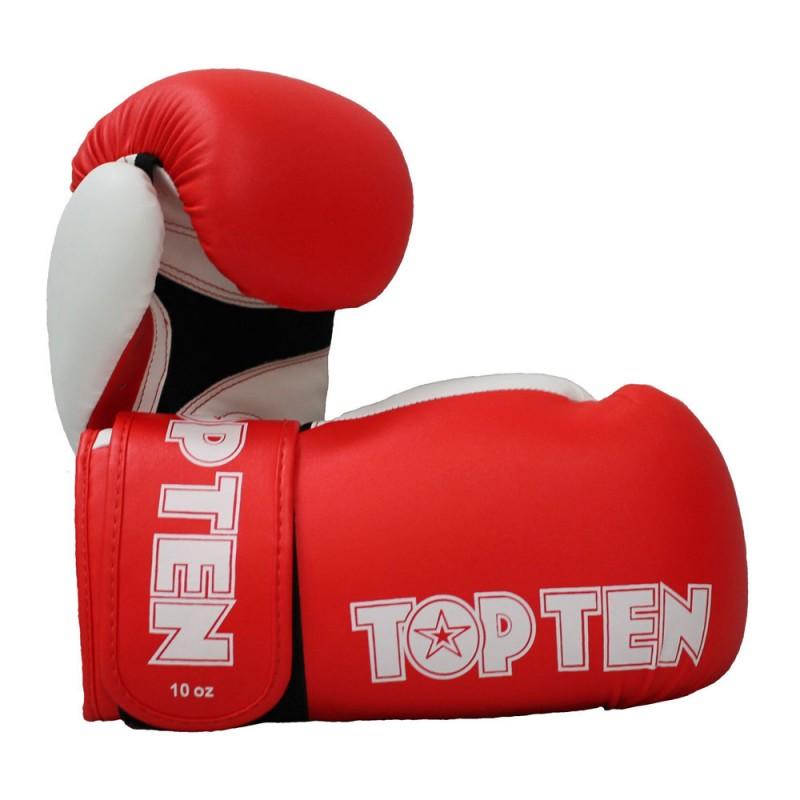 Top Ten XLP Boxhandschuhe Rot Weiss