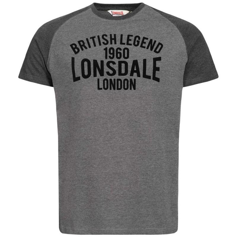 Lonsdale T-Shirt Tradescant Marl Ash